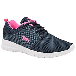 Lonsdale - Navy and pink 'Sivas 2' ladies trainers