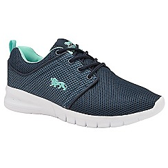 Lonsdale - Navy and mint 'Sivas 2' ladies trainers