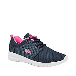 Lonsdale - Navy, Pink and White 'Sivas 2' Ladies Trainers