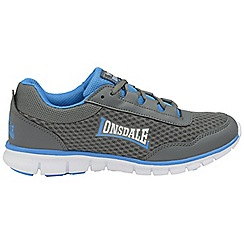 Lonsdale - Grey/Blue 'Southwick' lace up mesh trainers