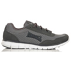 Lonsdale - Grey and charcoal 'Southwick' trainers
