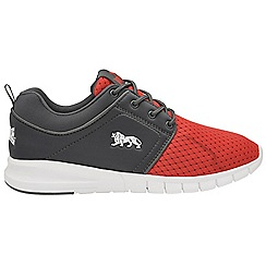 Lonsdale - Red and grey 'Sivas' mens trainers