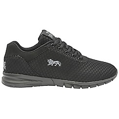 Lonsdale - Black and grey 'Tydro' mens trainers