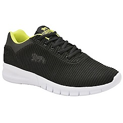 Lonsdale - Black & volt 'Tydro' mens lace up sports trainers