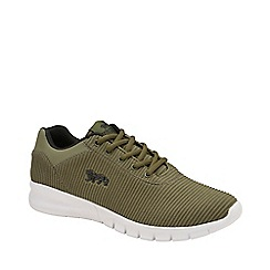 Lonsdale - Khaki and Black 'Tydro' Mens Lace Up Trainers