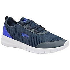 Lonsdale - Navy and blue 'Zambia' mens lace up trainers