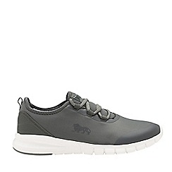 Lonsdale - Charcoal and white 'Zambia' mens lace up trainers