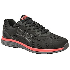Lonsdale - Black, red & grey 'Lisala' mens lace up trainers