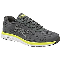 Lonsdale - Grey, volt & white 'Lisala' mens lace up trainers