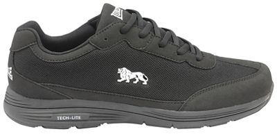 Lonsdale - Black and White 'Kamina' mens lace up sports trainers
