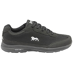Lonsdale - Black/White 'Kamina' mens lace up sports trainers