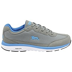 Lonsdale - Grey and blue 'Kamina' mens lace up sports trainers