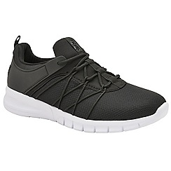 Lonsdale - Black and white 'Epic' mens lace up trainers