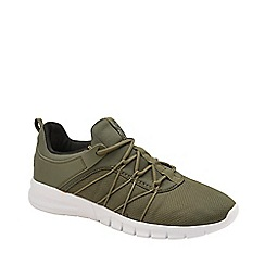 Lonsdale - Khaki and Black 'Epic' Mens Lace Up Trainers