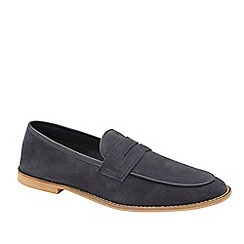 Frank Wright - Navy 'Archie' Suede Slip-On Loafers