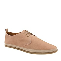 Frank Wright - Dusty Pink 'Loire' Suede Lace-Up Derby Shoes