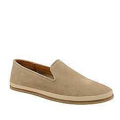 Frank Wright - Sand 'Tarn' Suede Slip-On Loafers