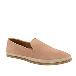 Frank Wright - Dusky Pink 'Tarn' Suede Slip-On Loafers