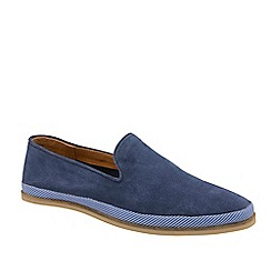 Frank Wright - Cobalt Blue 'Tarn' Suede Slip-On Loafers