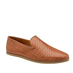 Frank Wright - Tan 'Salcombe' Leather Slip-On Loafers