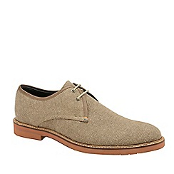 Frank Wright - Sand 'Evans' Canvas Lace-Up Derby Shoes