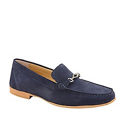 Frank Wright - Navy 'Hardwell' Suede Slip-On Loafers