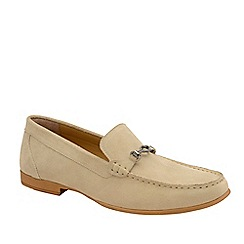 Frank Wright - Taupe 'Hardwell' Suede Slip-On Loafers