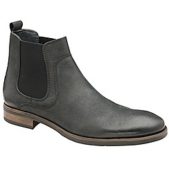Frank Wright - Black 'Willow II' leather slip on chelsea boots