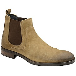 Frank Wright - Sand 'Willow ii' suede slip on chelsea boots