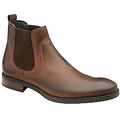 Frank Wright - Tan 'Willow II' leather slip on chelsea boots