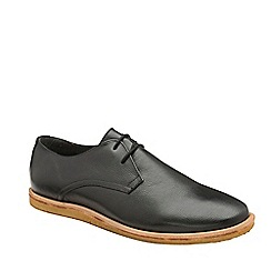 Frank Wright - Black 'Jordan' leather lace up derby shoes
