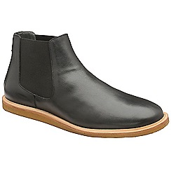 Frank Wright - Black 'Law' leather slip on chelsea boots