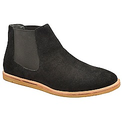 Frank Wright - Black 'Law' suede slip on chelsea boots