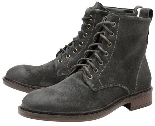 'Call' Frank suede oiled boots lace Wright up Grey 6PrqxwE1P
