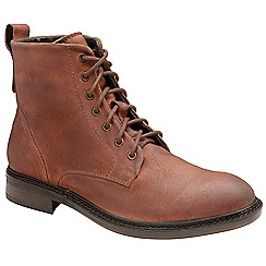 Frank Wright - Rust 'Call' oiled suede lace up boots