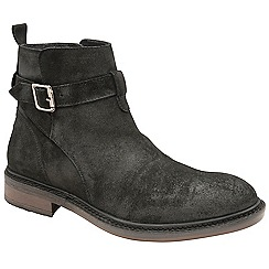 Frank Wright - Black 'Selby' oiled suede ankle boots