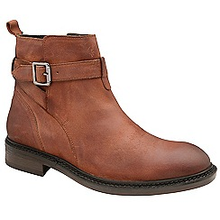 Frank Wright - Rust 'Selby' oiled suede ankle boots
