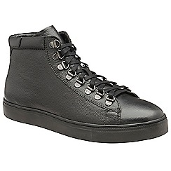 Frank Wright - Black 'Gambon' leather lace up ankle boots