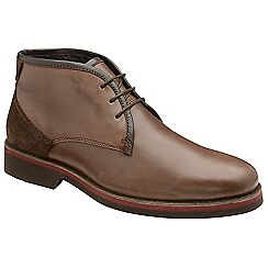 Frank Wright - Brown 'Stamp' camper leather lace up boots