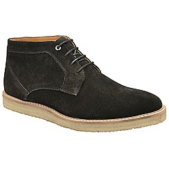 Frank Wright - Black 'Ford' suede lace up derby boots