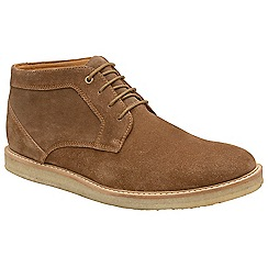 Frank Wright - Tobacco 'Ford' suede lace up derby boots