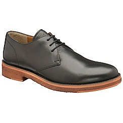 Frank Wright - Black 'Dalton' matt leather lace up derby shoes