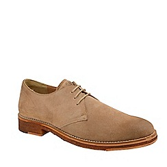 Frank Wright - Biscuit 'Dalton' washed suede lace up derby shoes