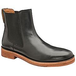452f5eb1a6a6 Frank Wright - Black  Falk  matt leather slip on chelsea boots