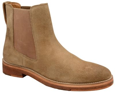 Frank Wright slip - Biscuit 'Falk' washed suede slip Wright on chelsea boots cad518