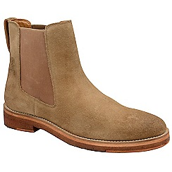 Frank Wright - Biscuit 'Falk' washed suede slip on chelsea boots