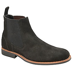 8e6f80e573753f Frank Wright - Black  Hopper  suede slip on chelsea boots