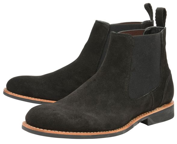 chelsea suede boots Black 'Hopper' on slip Frank Wright aUYqwvaz