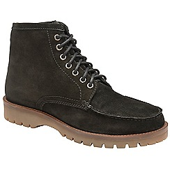 Frank Wright - Black 'Coburn' suede/fleece lace up boots