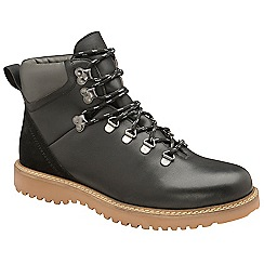Frank Wright - Black 'Butler' leather lace up boots
